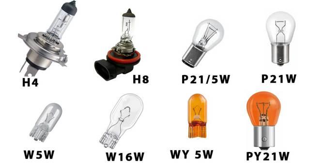 Лампы Киа Рио 3 - тип, мощность, внешний вид