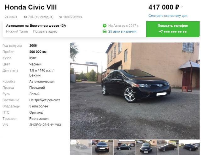 На что обратить внимание при покупке б/у honda civic 4d