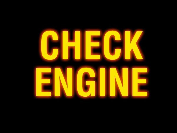 Почему загорелась лампочка check engine