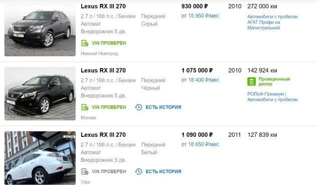 О каких слабых местах Лексус РХ 350 стоит знать при покупке