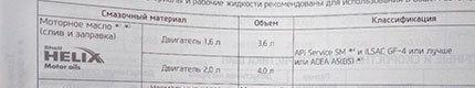 Сколько и чего заливать в Хендай Крета 1.6 и 2.0 л.